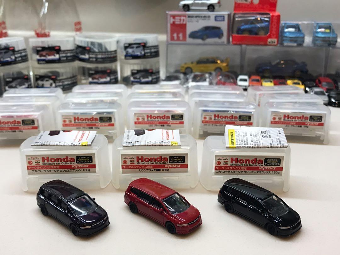 Kyosho Honda Miniature Car Collection NSX Integra s2000 Odyssey Civic s800 1:100