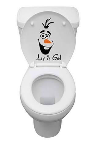 Let It Go Toilet Seat Sticker
