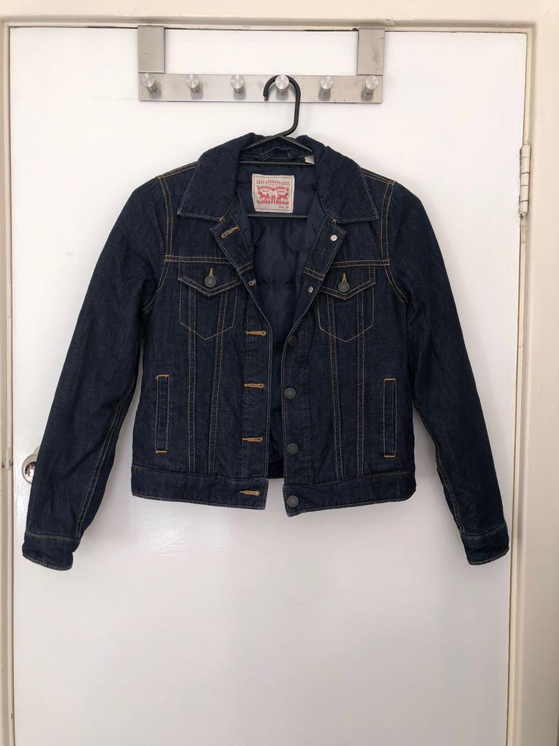 Levi's Women's denim down jacket limited ed size xs