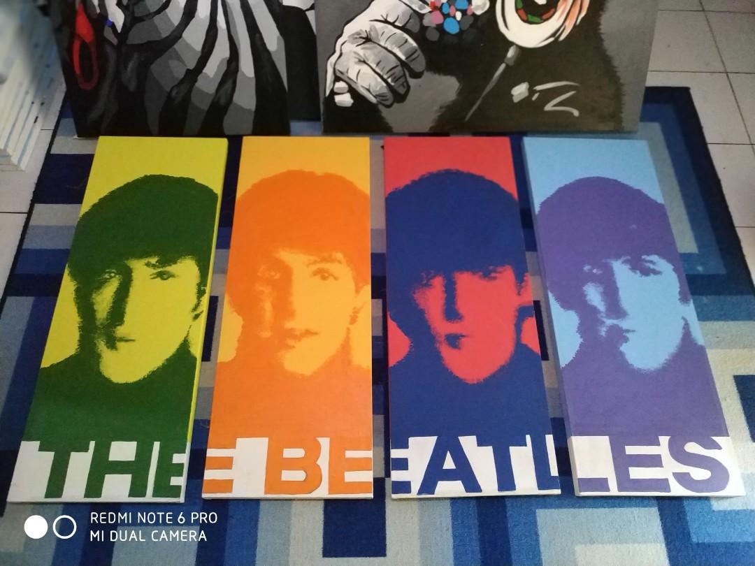 Lukisan Pop Art The Beatles