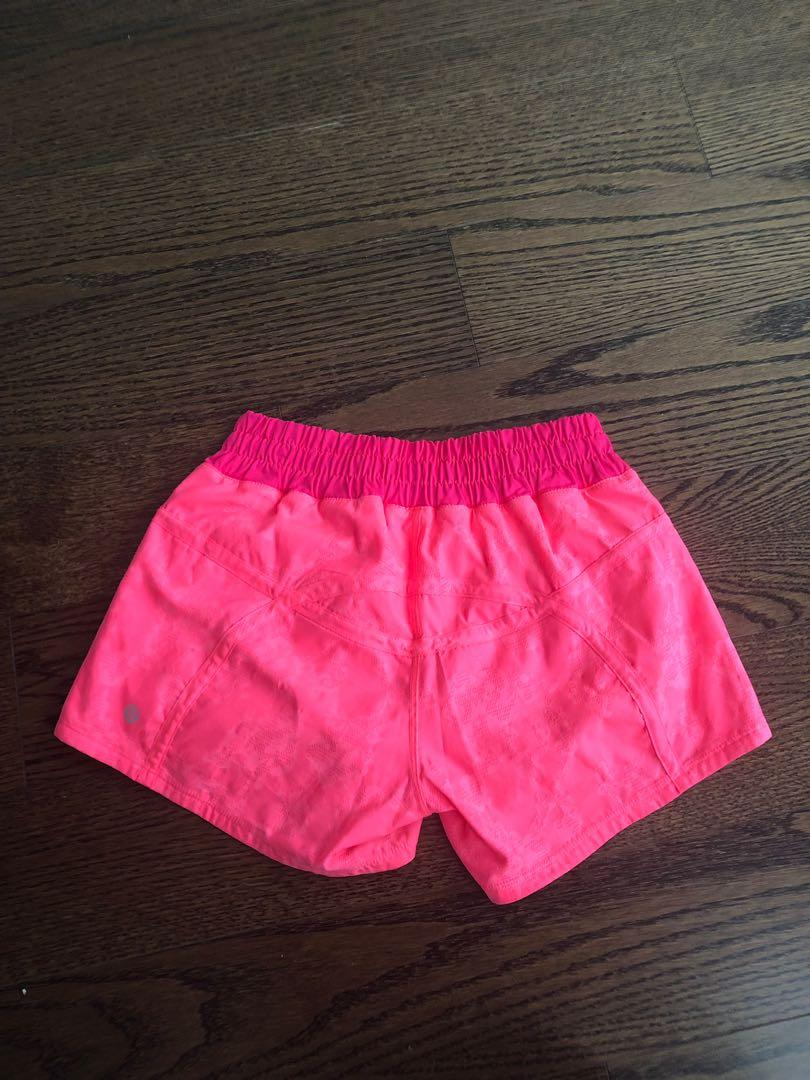 Lululemon pink shorts - Brand new condition - size 2