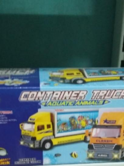Mainan anak container truck aquatic anmals