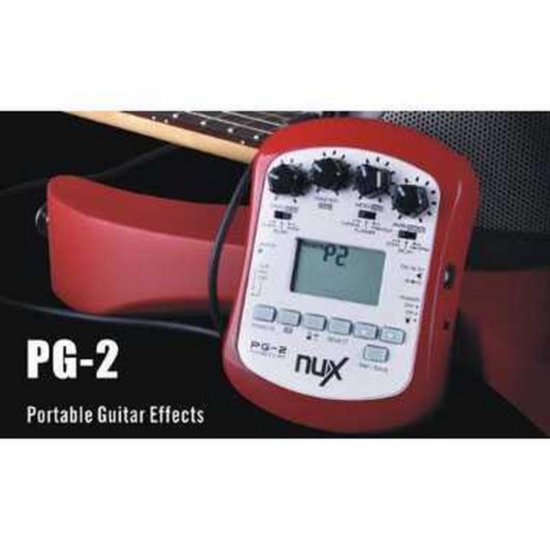 NUX Pedal Efek Gitar Portable Pre-Amp 6 Modulation - PG-2 TItanGadget