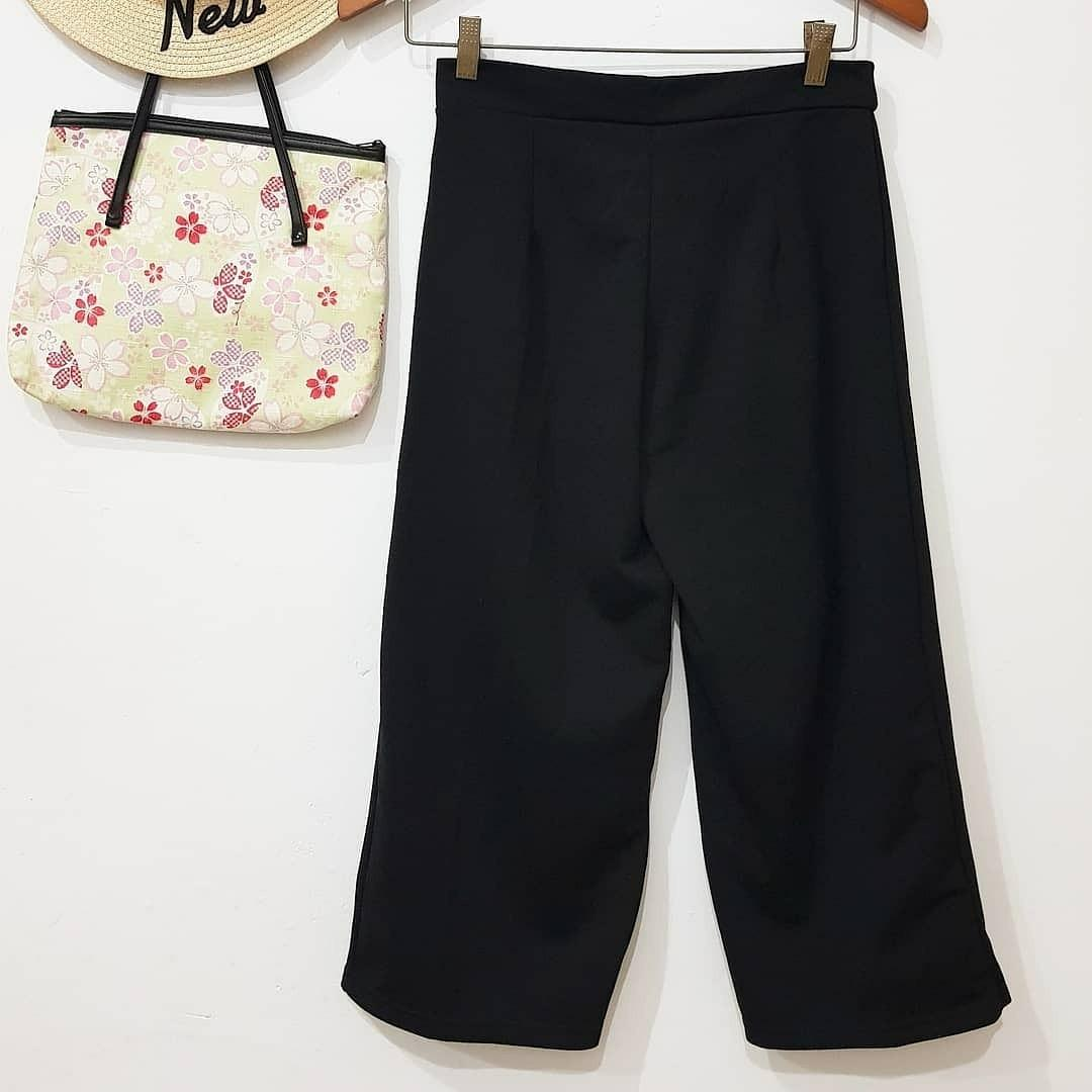 Plain scuba Cullote pants