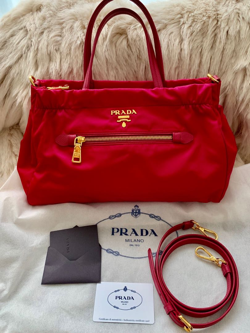 2f9af1978dcf Prada Tessuto Nylon & Saffiano Leather Trim, Luxury, Bags & Wallets ...