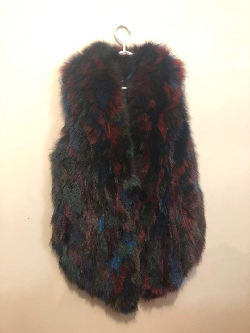 Rudsak Multicoloured fox fur vest