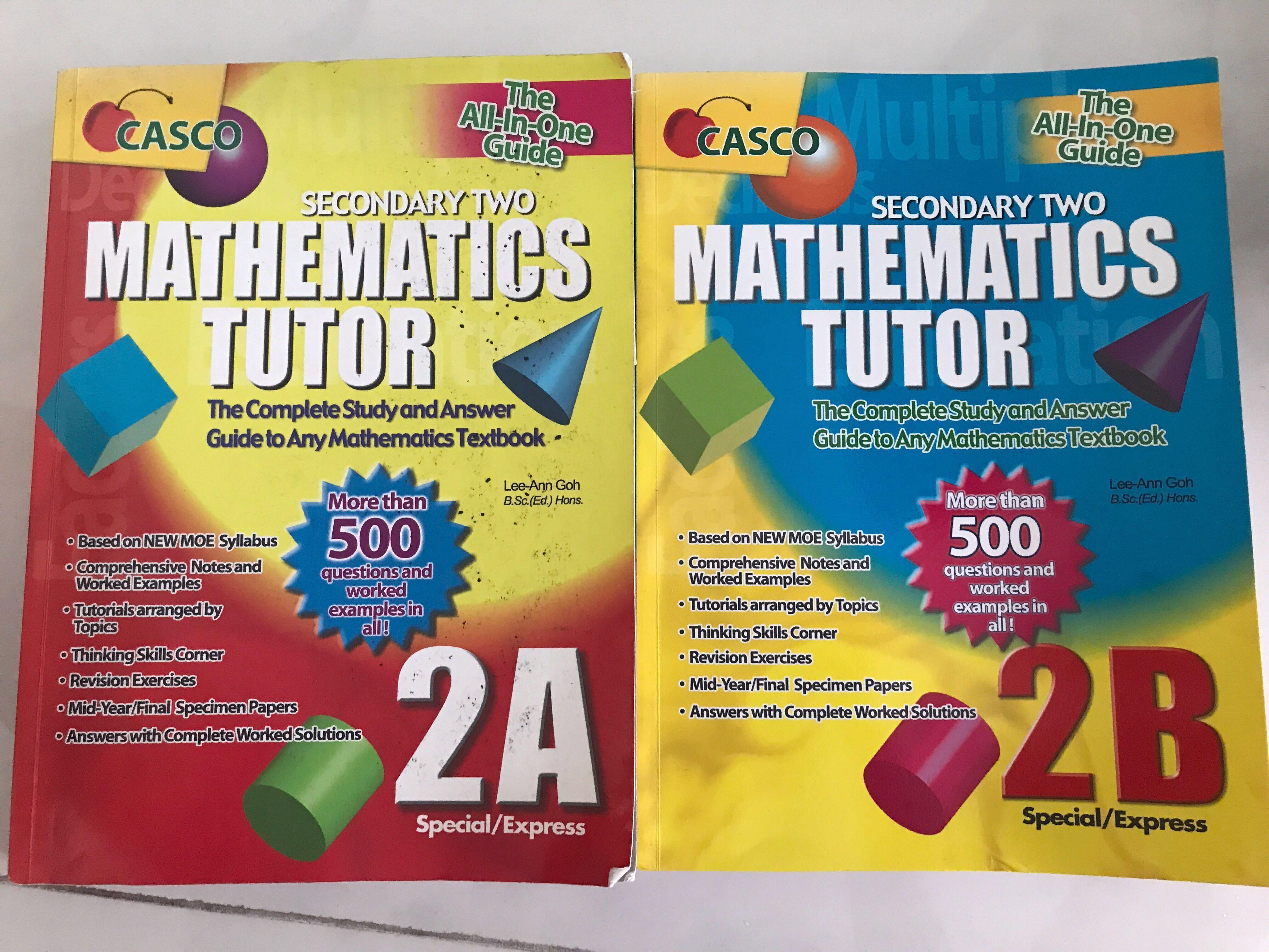 Sec2 Math Assessment Books (Mathematics Tutor)