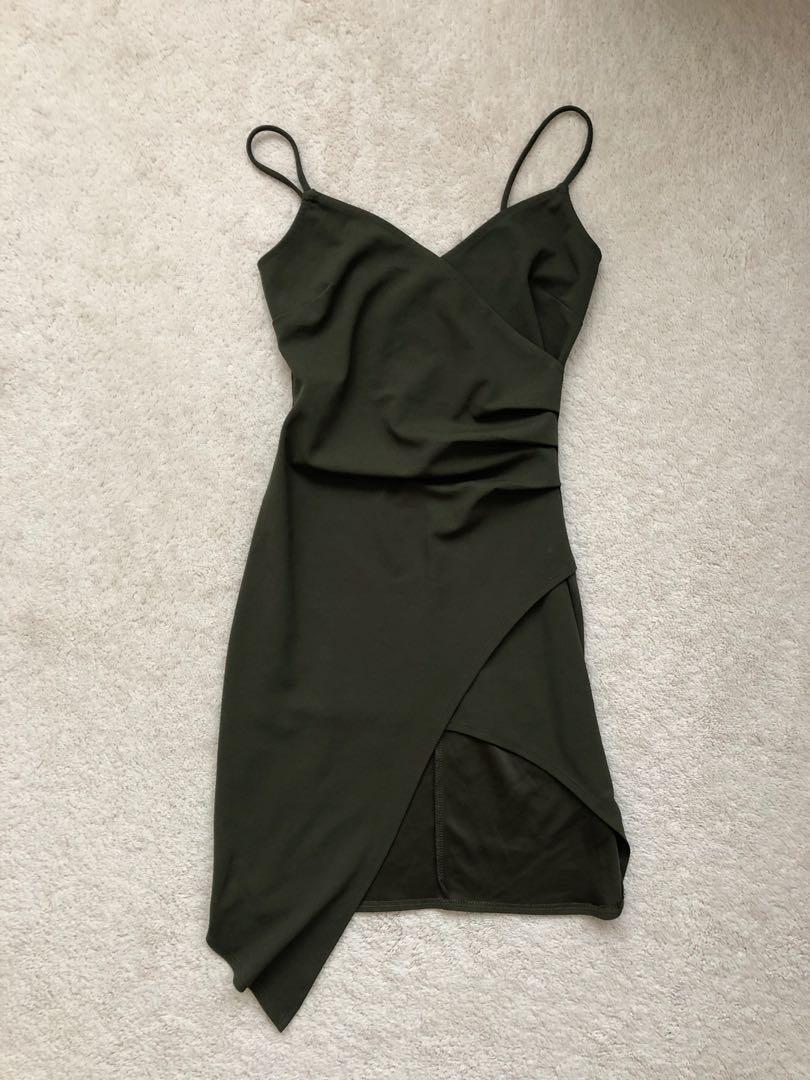 Shop M Dress Olive Green