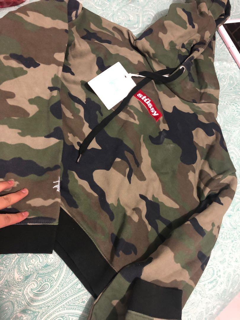 Stussy camo hoodie new size 10
