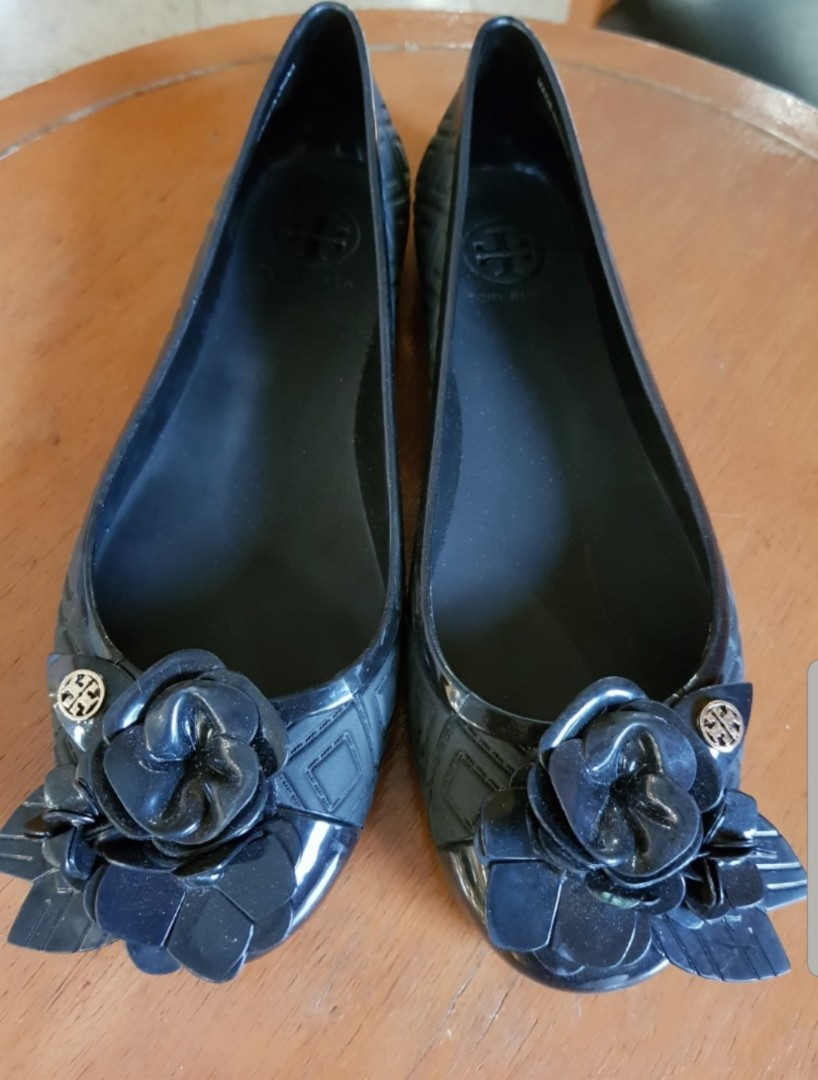 59f1d39f600 Tory Burch Jelly Ballerina shoes, Luxury, Shoes on Carousell