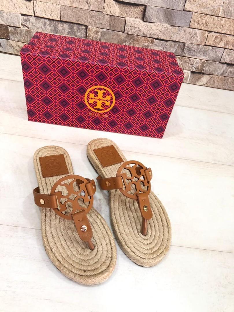 TORY BURCh Sandals T603, MIRROR QUALITY,   H @520rb  Berat 600g  COKLAT 35-40 HITAM    36-40