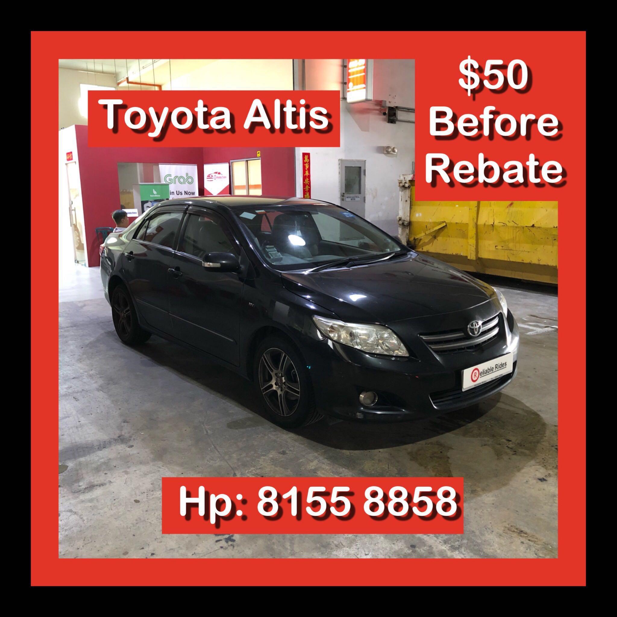 Toyota Altis 1.6 Auto Grab Car Rental