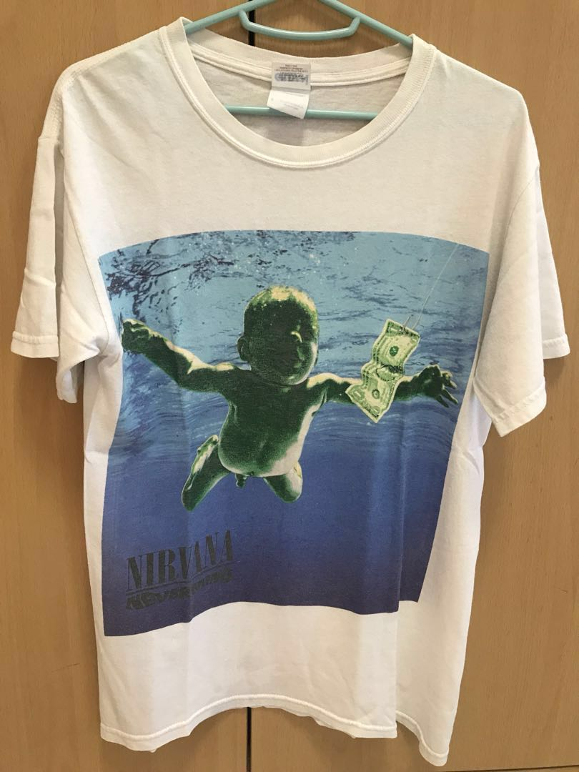5dc221070 Vintage Nirvana Tee, Men's Fashion, Clothes, Tops on Carousell