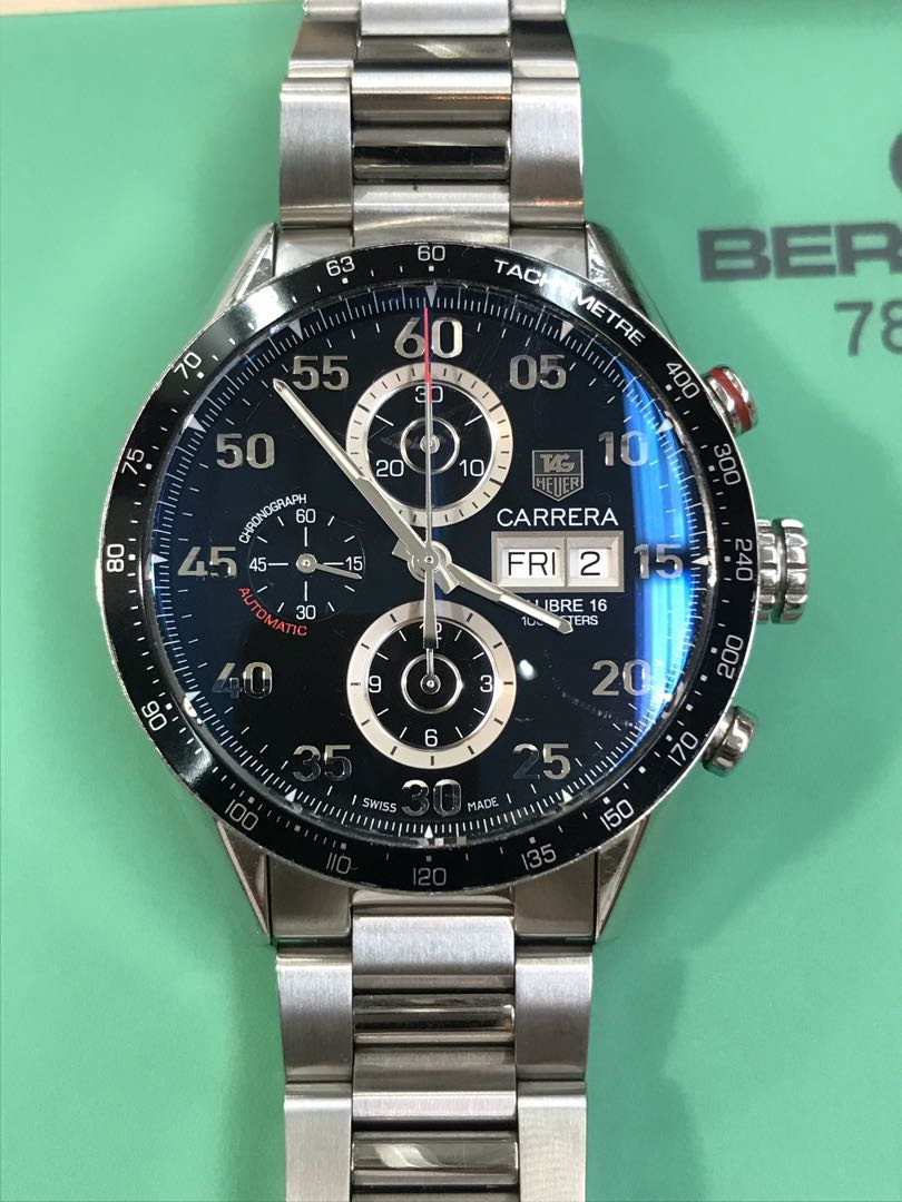 c55aeb1c945 (Watch Services) Tag Heuer Carrera Cal.16 ETA7750, Luxury, Watches on  Carousell