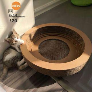 【BRAND NEW/PROMOTION】BUNJI round cat scratcher