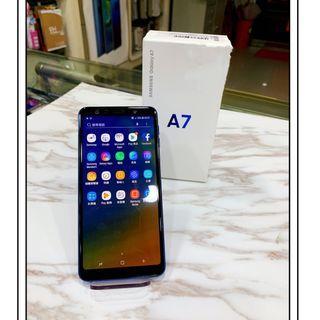展示機 有保固 SAM A7(2018)128G 藍色 『可免卡分期 現金分期 』萊分期  中古機 二手機