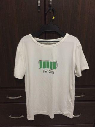 100%白色短袖T恤