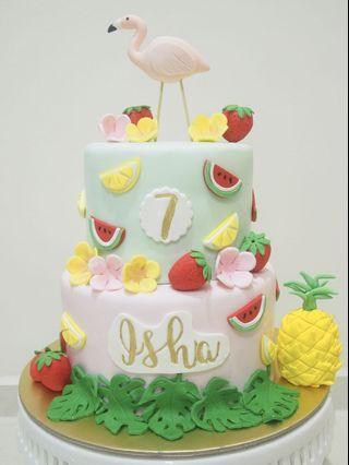 🚚 Flamingo cake