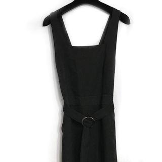🚚 韓系黑色吊帶裙 有口袋