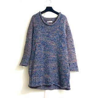 🚚 星期一古著 vintage 混織 毛衣 毛衣裙
