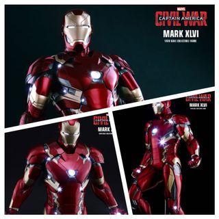CAPTAIN AMERICA: CIVIL WAR - IRON MAN MARK XLVI MK 46 1/6TH SCALE HOT TOYS POWER POSE ACTION FIGURE
