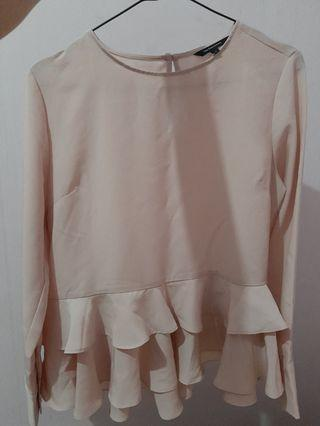#mauthr The Executive Mix Polyester Long Sleeves Blouse Dusty Pink