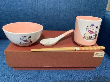 貓茶杯碗套裝 Cat tea cup & bowl set