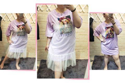 🚚 ✨ 兩件式網紗夢幻紫洋裝