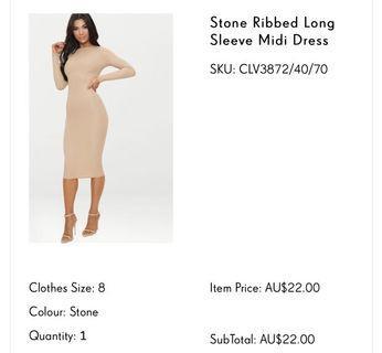 PLT Midi Ribbed Dress ⭐️