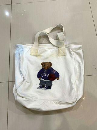 Polo bear tote bag