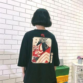 🚚 日式浮世繪風格上衣