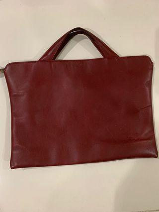 Trion leather briefcase