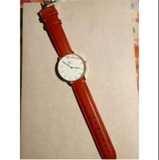 🚚 DW限量紅表帶手錶 保證正品