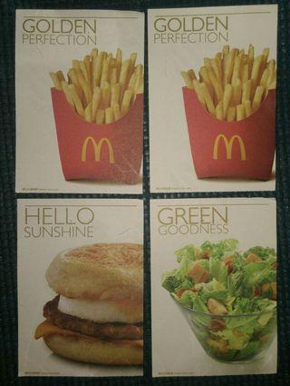 麥當勞禮券票尾(共4張、全部己過期、不能用、不設散賣)