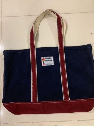 🚚 Parrot Canvas tote bag made in USA