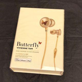 """【原裝正貨】Vivienne Tam x MONSTER """"Butterfly"""" 🦋 High Fashion In-Ear Speakers / Earphones 美國 魔聲 聯乘 Vivienne Tam 蝴蝶 香檳金 🦋中高階 入耳式耳機 耳塞 (原價 Original price: HK$1480)"""