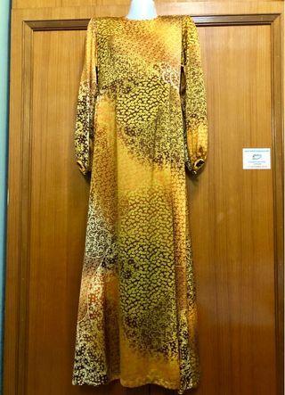 Long dress satin silk