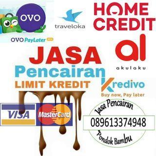 Jasa Pencairan Limit/Gestun Limit Akulaku, Kredivo, OVO Paylater, Home Credit, Shopee Paylater, Dan Kartu Kredit