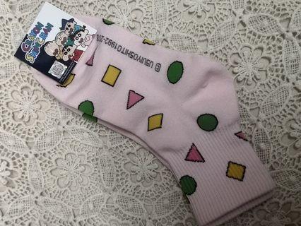 蠟筆小新襪 (小新睡衣圖案-粉紅色)