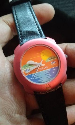 Vintage watch Benetton by Bulova