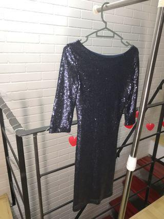 Dress with full sequins