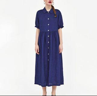 Zara Buttondown Denim Dress
