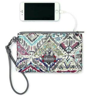 Sakroots Charging Wristlet in Slate Brave Beauti