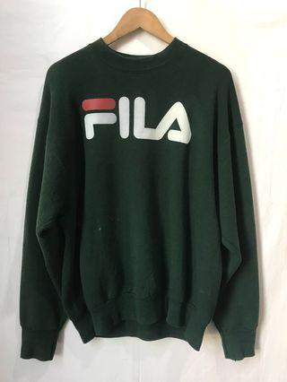 Vintage FILA Sweatshirt in dark green