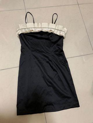 Forever21小貴氣洋裝 黑色緞面質感 #畢業舞會#謝師宴