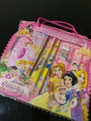 🚚 [Sales] Kids Princess Stationery Set - Pencil Box/ Pencil/ Eraser/ Ruler/ Sharpener/ Notebook/ Bag - Birthday Gift/ Present