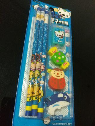 [Sales] Kids Stationery Set - Pencil/ Eraser/ Sharpener - Birthday Gift/ Present