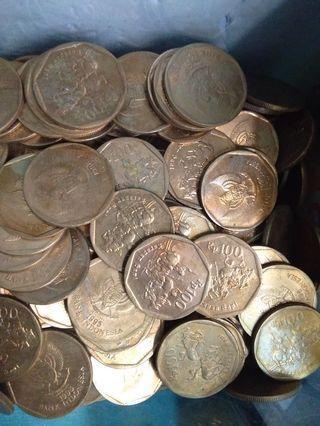 Uang kuno/uang lama 100 karapan sapi