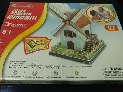 [Sales] Solar Powered Windmill 3D Puzzle - Kids Toy/ Birthday Gift/ Present