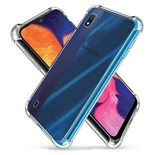 Samsung A10 ShockProof Clear Case + Clear Tempered Glass
